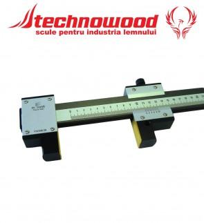 Instrument de masurat lungimea interior/exerior, cu talpici de otel