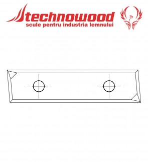 Placuta pentru Freza CNC unghiulara Z=2